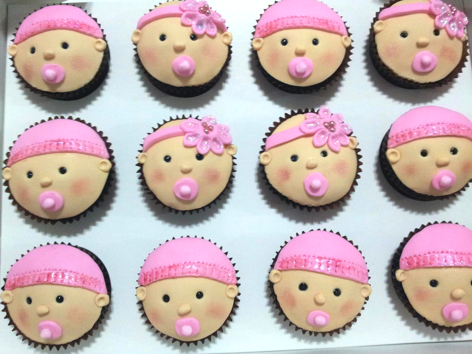 Baby Shower Cupcakes Ideas Pictures ~ How to make baby face cupcakes cute cupcake ideas