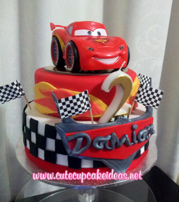 Cake Designs With Cars : How To Decorate A Disney Pixar Cars Cake Ehow Party ...