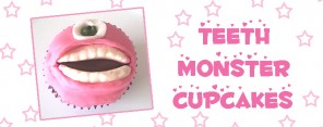 Teeth Monster Cupcakes Feature